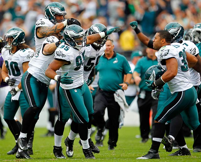 Detroit had a week off to try to fix a special teams problem that has allowed kickoff and punt returns for touchdowns in each of the past two games. That, coupled with the struggles of Matthew Stafford (three touchdowns, four interceptions, nine sacks) and a running game that should struggle against a team that allows fewer than 100 yards per game, make the Eagles the pick of the week.