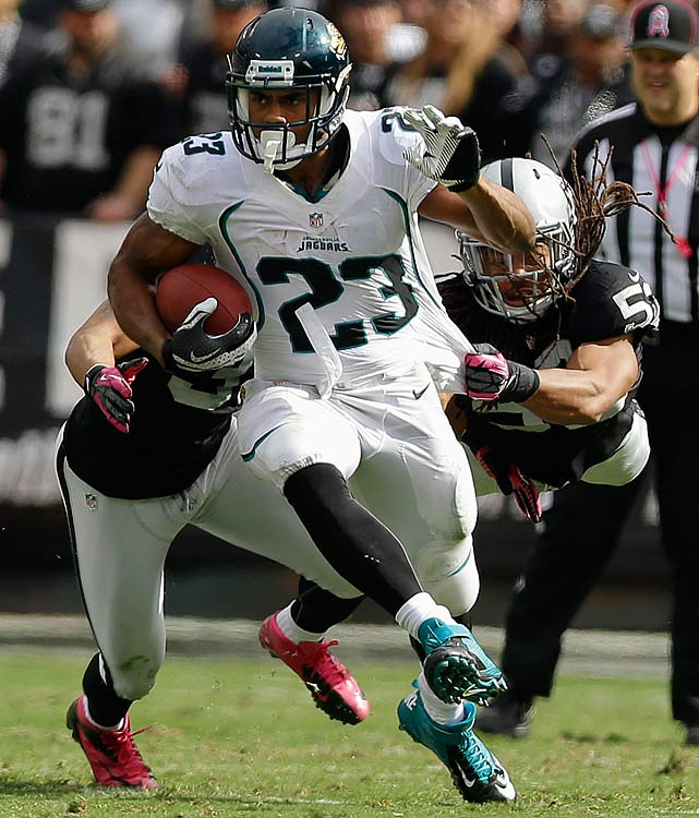 Neither Jennings nor the injured Maurice Jones-Drew has been anything to write home about fantasy-wise this season, but Jennings will monopolize the carries against the league's 17th-ranked rushing defense this weekend. Plus, a slew of fantasy's must-start backs (Ray Rice, Arian Foster, C.J. Spiller, Fred Jackson, BenJarvus Green-Ellis) are on bye weeks, adding to Jennings' Week 8 value.