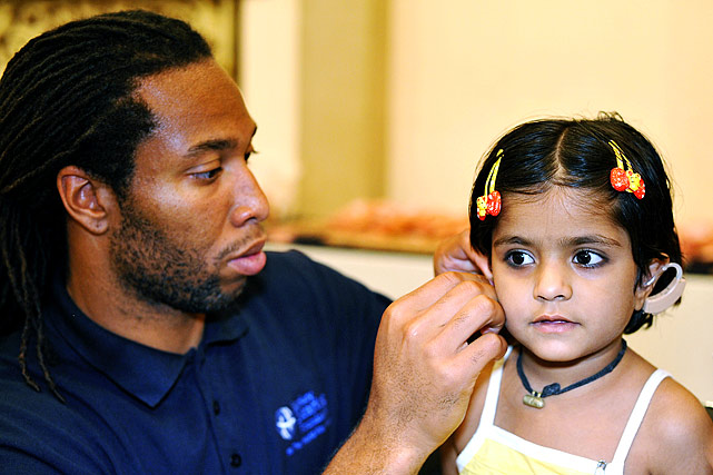 On a two-and-a-half week mission with the Starkey Hearing Foundation, helping fit over 14,000 hearing aids in five cities and two countries.
