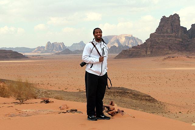 The Wadi Rum desert.