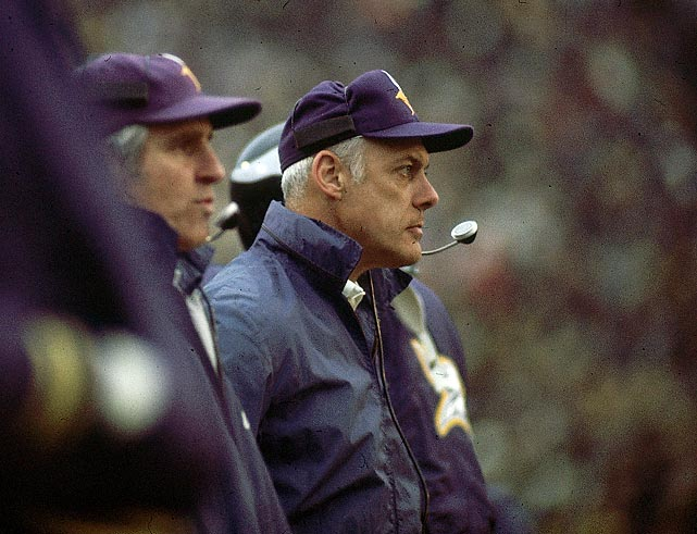 Vikings hire Bud Grant as head coach, beginning the most successful era in franchise history. Grant, who had led Winnipeg to four Grey Cup titles and earlier played for two NBA champions with the Minneapolis Lakers, makes the Vikings perennial winners, guiding them to 168 victories, 12 playoff berths and four Super Bowls over 18 seasons.