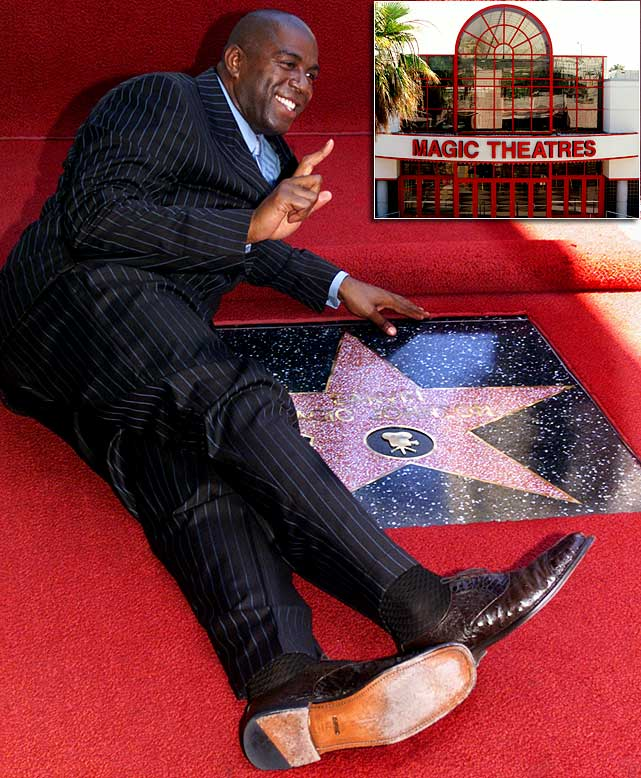 In 1994, the former Lakers great created a movie theatre chain called Magic Johnson Theatres because he believed that many urban communities were not being well served. Johnson teamed up with Sony Pictures entertainment and Loews Cineplex Entertainment to open theatres across the country, including one in Harlem, N.Y., and one in Los Angeles. Johnson's initial goal wasn't to make money, but to provide a safe place for entertainment in troubled inner-city communities.