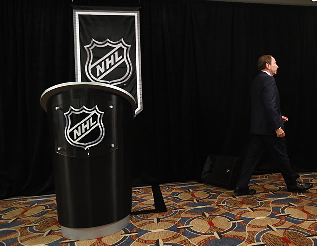 """Trying to figure our what lunatic turn the NHL lockout will take today. We're overdue for fake vomit to be involved."" -- Jesse Spector of  The Sporting News  via Twitter (@jessespector)  ""Today isn't the first time the union has come out of a session and talked about how wonderful their offer is, or how close we were, when in fact the reality was, they were misleading you. I think everyone needs to take a step back, and I think all of the PR spinning is not going to get this done. ... Don can say whatever he wants, I'm not going to negotiate publicly."" -- Bettman to the media on Nov. 21  ""The only Federal agency that might be able to get some traction is the Army. The two sides are so entrenched in their positions, heavy artillery might not even be able to dislodge them, but it might have the best shot."" -- Luke DeCock writing in the  The Raleigh News & Tribune  on Nov. 29  ""We're having a tough time understanding why what we have proposed and what we have proposed previously hasn't been accepted."" -- Bettman at Nov. 21 press conference"
