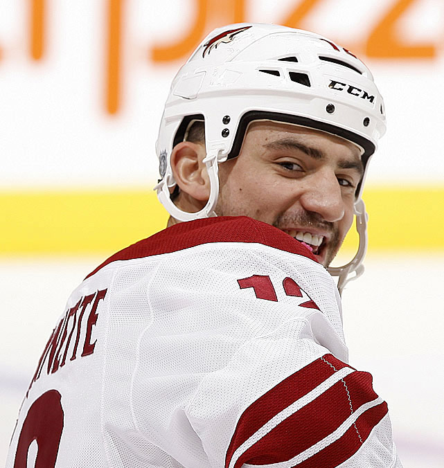 "Coyotes winger via Twitter (@BizNasty2point0):  ""Gary Bettman takes a lot of heat for doing his job. Question to you is would you do what he does for 8 million dollars a year?""  ""Because of the NHL lockout I will be pursuing my dream of Yoga instructing."""