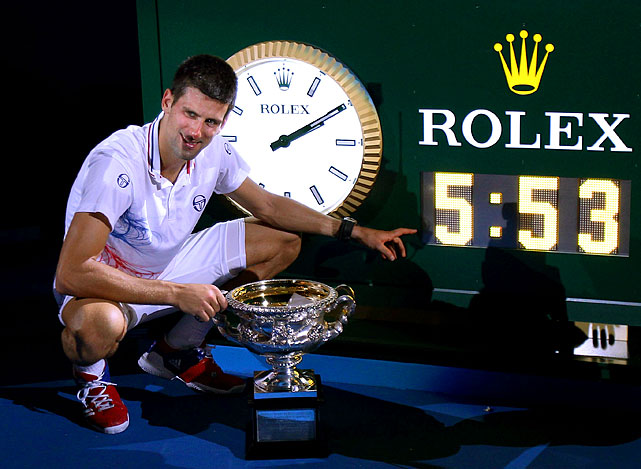 In what was the longest Grand Slam singles final in history, Novak Djokovic defeated Rafael Nadal to win his third straight major.