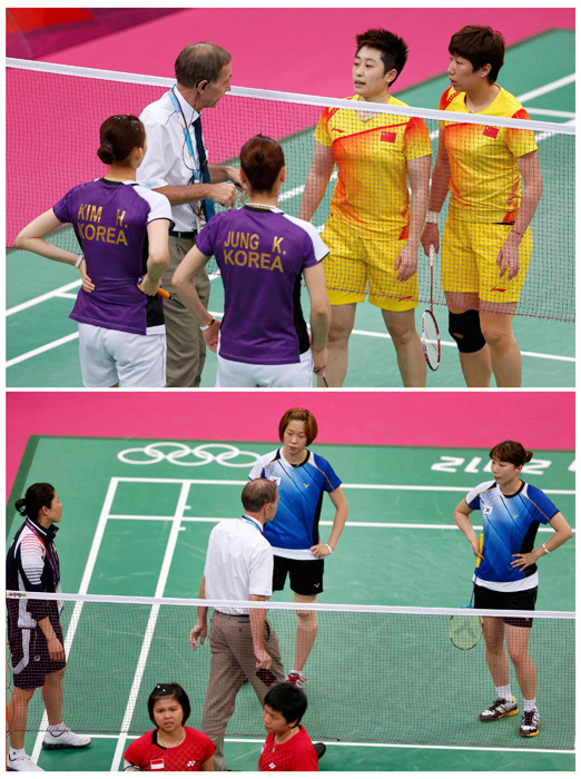 Who would have thought that the biggest scandal to come out of the London Olympics would have involved badminton? But that's exactly what happened in August, as eight competitors from four women's teams were disqualified for having allegedly thrown the games to secure a more favorable draw. The farcical matches were met with boos from the crowd and no forgiveness from the IOC.