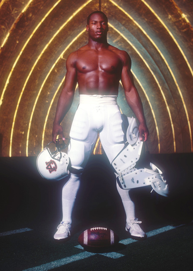 Jackson shows off his physique during a 1985 photo shoot.