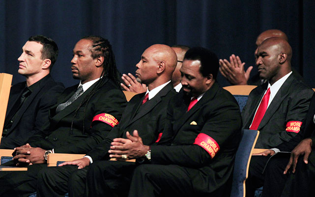 A who's who of boxing luminaries turned out Tuesday for Steward's funeral.