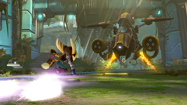 Fans of the successful Ratchet & Clank franchise might be surprised to learn that Full Frontal Assault is a tower defense game. In the game you're charged with defending six generators at your base, taking control of weapon nodes out in the field, and ultimately destroying the generators of your opponent. In each battle you'll collect bolts, which are the currency used to purchase base defense elements (turrets, mines and barriers) and used to acquire attacking troops for the final assault round. The PS3 version of Full Frontal Assault includes the PS Vita version for free and features shared saves. You can play the game cooperatively online or locally with another player or play head-to-head or 2-on-2 online. The single player campaign is short and not nearly as fun as multiplayer, but considering the game is $20, if you like the base defense genre it's not a bad deal at all. Score: 7 out of 10