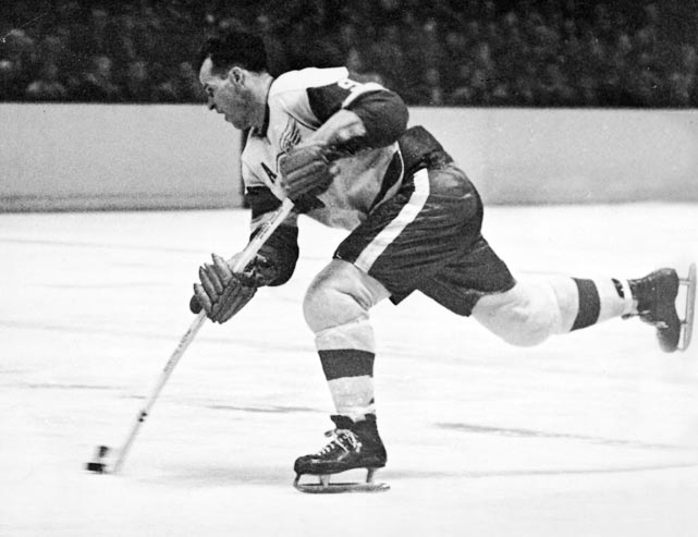 "With an ambidextrous shot, ""Mr. Hockey"" played in the NHL for five decades and played in 1797 games, the most all time."