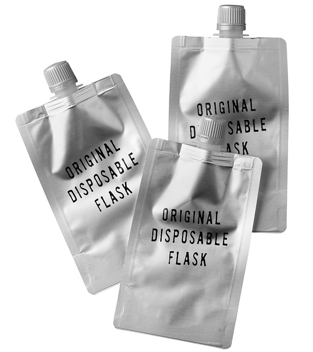 Sometimes enjoying a beverage at the game requires a little stealth and a willingness to abandon ship. With this set of three disposable flaks you can do both in style. $15 at   restorationhardware.com