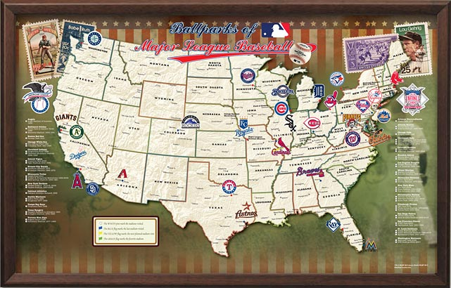 Know someone who wants -- no, needs -- to visit every MLB stadium in their lifetime? This map will help them keep track of his or her progress and could be the most memorable gift you give this year. $150 at   exposuresonline.com