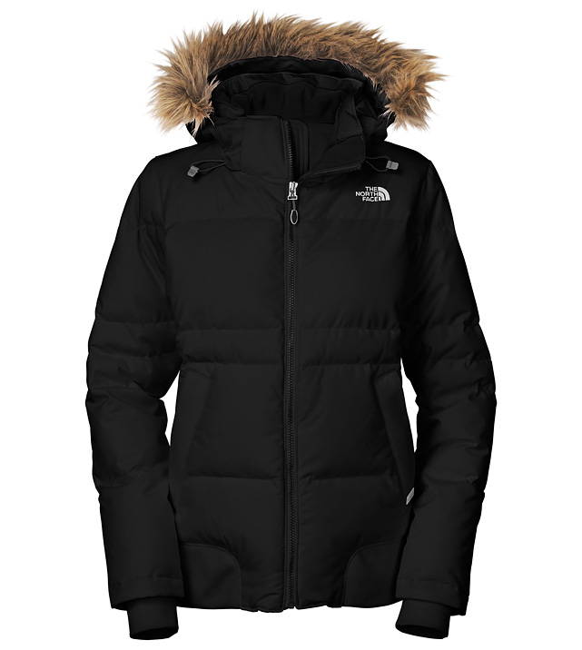 Winter wear isn't known for being stylish, but this lightweight, water-resistant jacket pulls double duty combining fashion and function. The snow skirt will keep her bottom dry while conquering a mountain, and the detachable hood adds some flair for the apres scene. $280 at   thenorthface.com