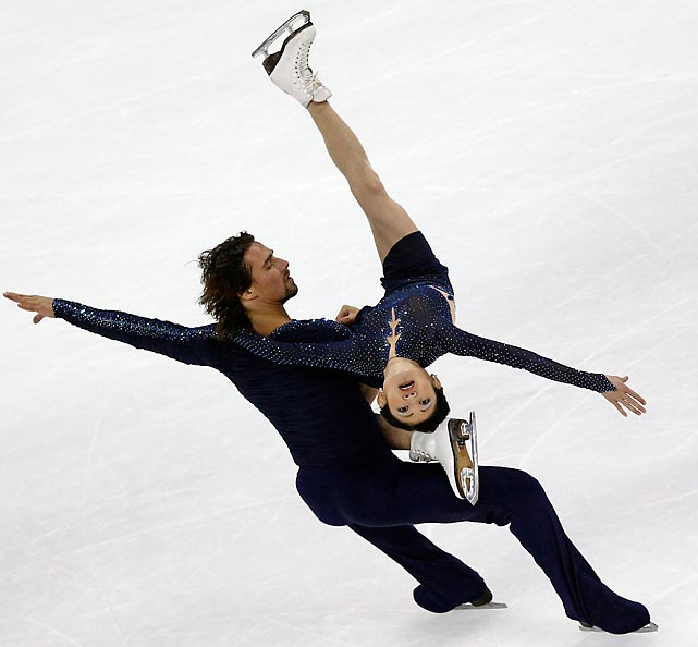 Yuko Kavaguti and Alexander Smirnov of Russia compete during the pairs free skating program at the Cup of China ISU Grand Prix in Shanghai.