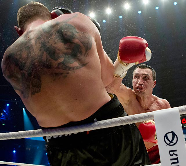 WBA, IBF and WBO heavyweight boxing world champion Wladimir Klitschko defended his title against Mariusz Wach of Poland in Hamburg, Germany.