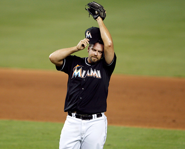 2012 salary: $7 million Two years, $20 million remaining on contract. 2012 stats with Marlins:  63.2 IP, 5.09 ERA, 1.55 WHIP, 59 K, 19 SV, 8 BS