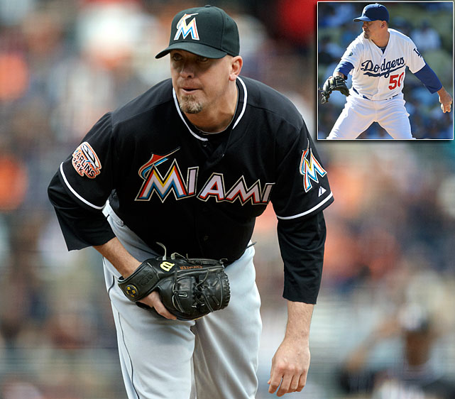 2012 salary: $1.5 million 2012 stats with Marlins:  25.1 IP, 2.49 ERA, 0.99 WHIP, 27 K 2012 stats with Dodgers:  13.1 IP, 4.05 ERA, 1.65 WHIP, 11 K