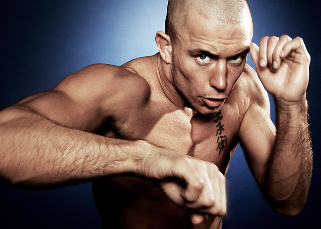 UFC welterweight champion Georges St-Pierre poses during a portrait shoot on April 9, 2008 in Montreal, Quebec Canada.