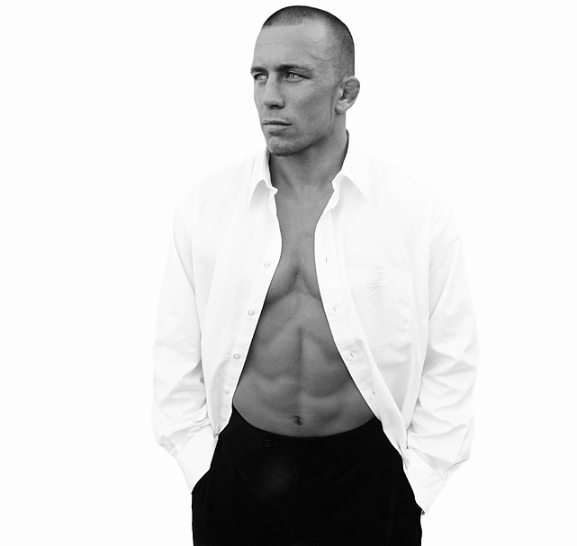 UFC welterweight champion Georges St-Pierre poses during a portrait shoot on July 17, 2008 in Albuquerque, N.M.
