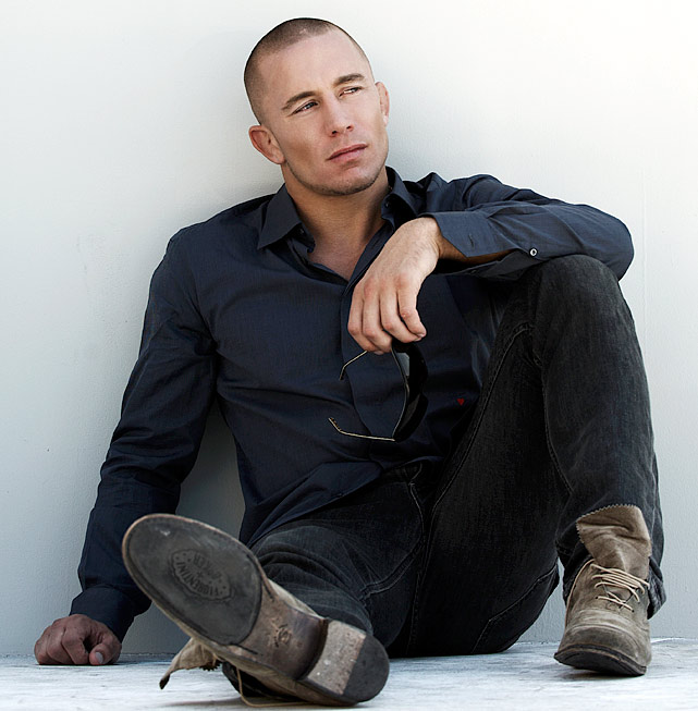 UFC welterweight champion Georges St-Pierre poses during a portrait shoot on September 17, 2009 in Los Angeles, Calif.