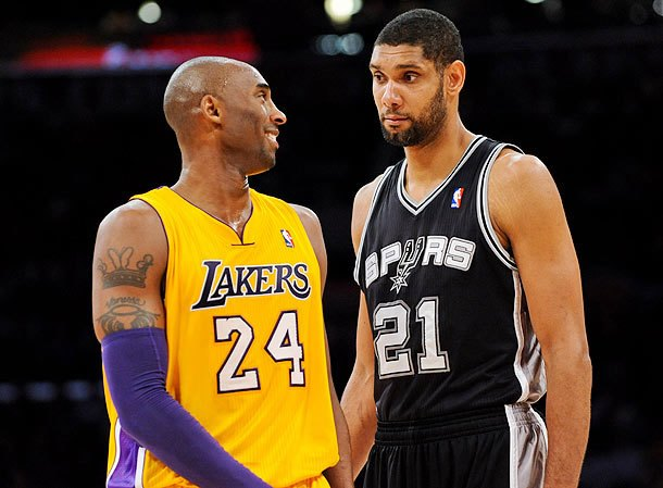 "Kobe Bryant, Tim Duncan: ""... So then Bynum just didn't join the huddles for months and Brown had no idea what to do."""
