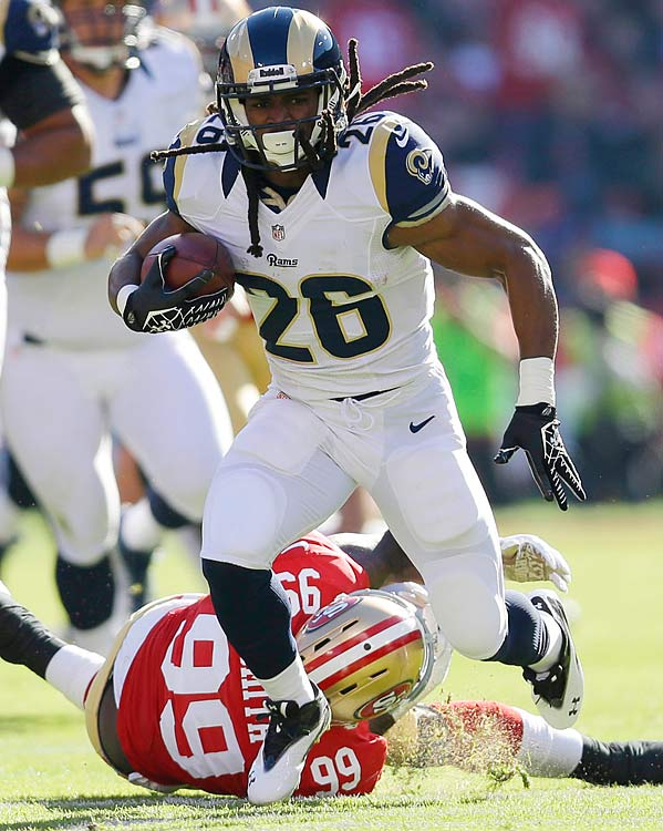 Once upon a time the Jets were murder on opposition runners, but that seems like a million years ago. Gang Green is fourth in rushing yards allowed and tied for fourth in most touchdowns surrendered on the ground. Richardson ripped through the Niners, one of the league's best against the ground game, for 8.3 yards per carry last week. He's in for another quality game this Sunday despite still serving as Steven Jackson's understudy.