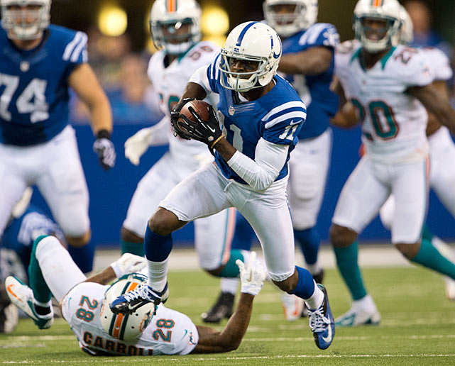 The Bills secondary had a great week against the Dolphins, but Ryan Tannehill is no Andrew Luck, so the receiving yards will be there for the Colts. Reggie Wayne is always option No. 1, but with two 100-yard games in his last three, T.Y. Hilton is likely to get special attention from the Bills. That will leave Avery to roam in space and do what everyone besides Miami has been able to do this year: get behind Buffalo's secondary.