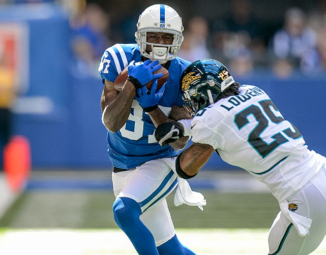 With 835 yards, Reggie Wayne is the NFL's leader in receiving yards through Week 9. The 12-year pro and five-time Pro Bowl wideout is averaging a career-best in yards per game (104.4) and is well on his way to an eighth 1,000-yard season.