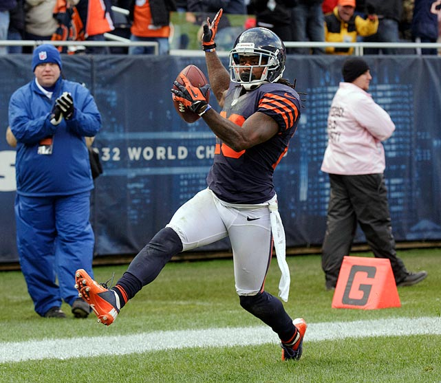 With some of his performances in 2012, Bears defensive back Tim Jennings has emerged as one of the NFL's top lockdown corners. In his third year with Chicago after four with the Colts, he is the league leader in interceptions, with six, and paces a stingy defensive side of the ball for a 7-1 Chicago team that is giving up just two touchdowns per game to the opposition.