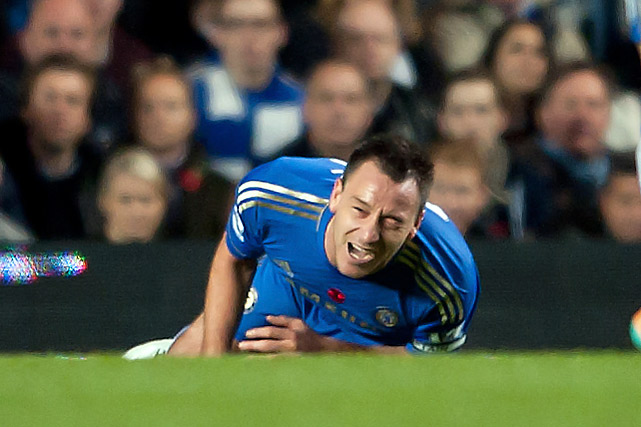 A 2011 Turkey, Terry secured the honor again when he was stripped of his England captaincy in February and the English Football Association charged him in July for alleged racist verbal abuse of Queens Park Rangers defender Anton Ferdinand during a Premier League match last year. Terry had been cleared by a London court, but the FA handed him a four-match ban and $356,000 fine nonetheless. Returning to Chelsea's lineup on November 11, he scored a goal and then was carried off the pitch after injuring a knee ligament.