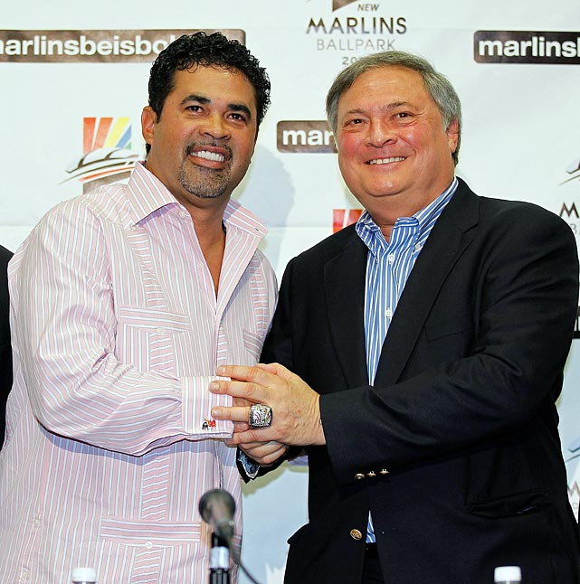 After hauling in $201 million-worth of free agents plus new manager Ozzie Guillen, the Marlins stank and sank to the bottom of the NL East. Along the way, Guillen didn't exactly endear himself to the local Cuban-American community with his positive comments about Fidel Castro in an interview with Time magazine. A housecleaning began with trades in July and Guillen was canned after the season with three years left on his $10 million contract. Miami then dealt shortstop Jose Reyes, pitchers Mark Buehrle and Josh Johnson, catcher John Buck and infielder Emilio Bonifacio to Toronto in a 12-player blockbuster.