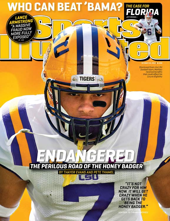 After four weeks of drug rehab, the All-America cornerback with the sweet nickname returned to LSU...and was busted with three teammates on October 25 for alleged possession of pot (not the kind you cook in). In August, Mathieu had been kicked off the Tigers for failing a drug test (weed again), all this after being suspended for an October 2011 game when synthetic marijuana was detected in his system. Shortly before his most recent arrest, SI reported that his hopes of playing for LSU in 2013 were in danger of going up in smoke due to possible NCAA rules violations regarding improper benefits from a local nightclub.