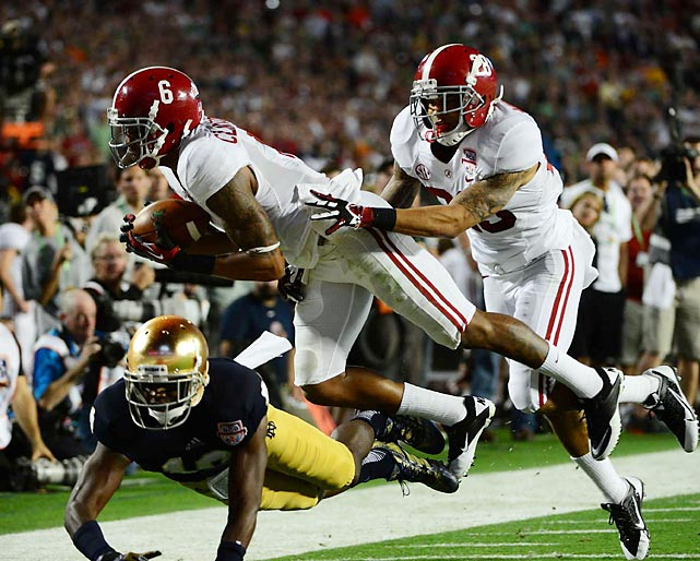 In a game Alabama dominated from the outset, the player nicknamed HaHa made sure the Tide got the last laugh. In addition to tallying seven tackles, he pulled in diving sideline interception to thwart Notre Dame's opening drive of the second half.