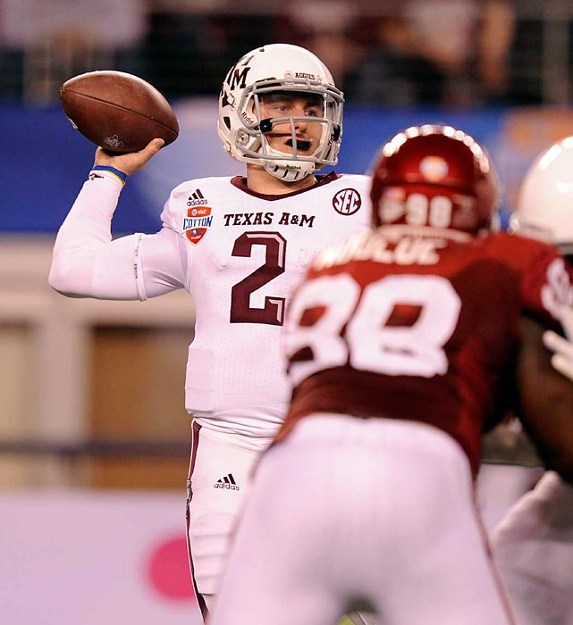 The Heisman winner added a fitting final chapter to his historic redshirt freshman campaign. Manziel accounted for a Cotton Bowl-record 516 yards of total offense to spark the Aggies' 41-13 rout of Oklahoma.