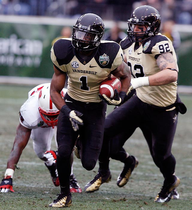 The junior safety got the best of NFL draft darling Mike Glennon in the Music City Bowl. Ladler picked off the NC State quarterback in the first quarter, recovered a fumble in the second quarter and recorded 10 tackles to help the Commodores close out their season on a seven-game winning streak.