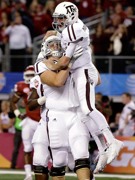 Potentially the top pick in April's NFL draft, Joeckel helped the Aggies successfully cap their resurgent campaign. He dominated Oklahoma's defensive front, and Texas A&M racked up 633 yards of total offense in an overpowering Cotton Bowl rout.