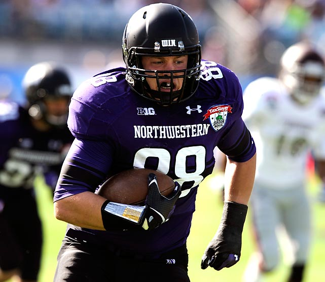 The 6-foot-4, 255-pounder started the Gator Bowl off in style. Williams returned a Tyler Russell interception 29 yards to the end zone on the third play of the game, setting the tone for Northwestern's first bowl victory since 1949.