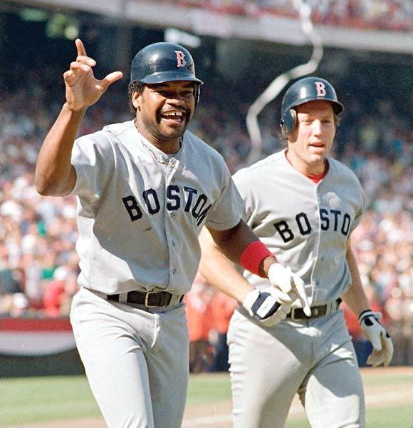 On the brink of advancing to the World Series, the Angels blew a 5-2 ninth-inning lead when Donnie Moore allowed a two-out, two-run home run to Dave Henderson. Boston eventually won the game 7-6 in the 11th on Henderson's sacrifice fly.