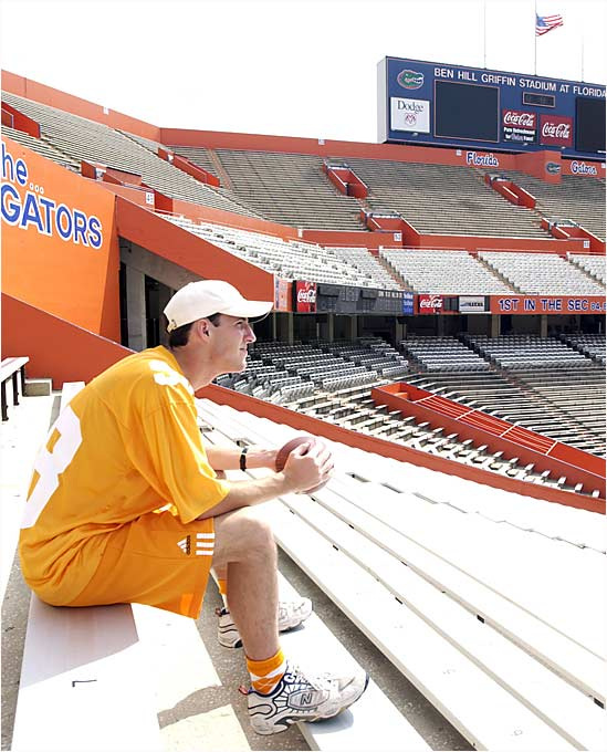 Save for a fan in full Volunteers regalia, the Swamp was devoid of its usual 83,000 game-day inhabitants the Saturday after 9/11, when Florida was scheduled to play Tennessee.