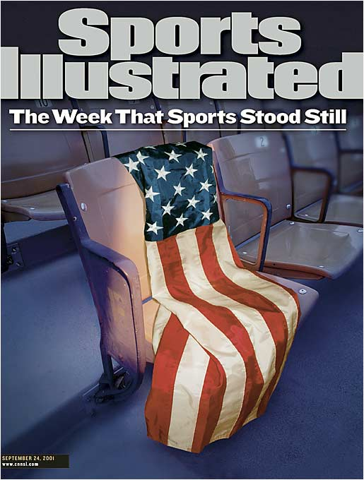 The Sept. 24, 2001, cover of Sports Illustrated.<br><br>As the U.S. commemorates the eighth anniversary of 9/11, here's a gallery of the photos that ran in Sports Illustrated the week after the attacks.