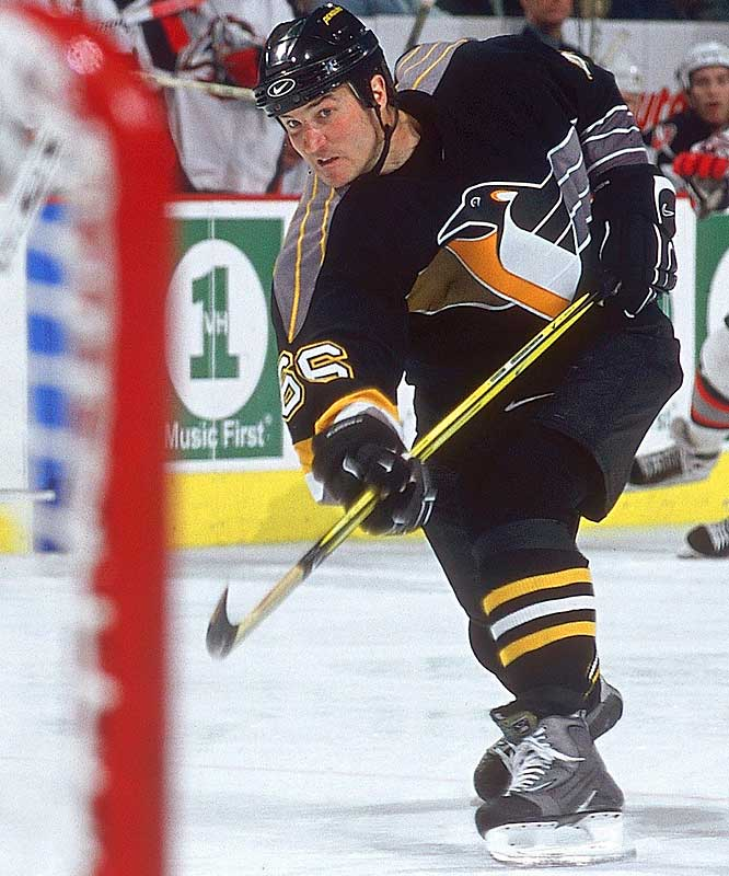 NHL seasons: 18 (1984-97, 2000-05)<br><br>Team: Penguins