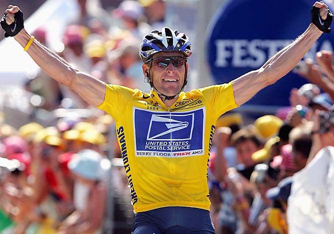 Lance Armstrong's seven consecutive Tour de France victories, the final one in 2005.