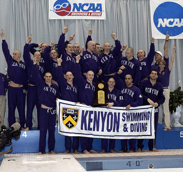 SIOC: Division III NCAA Swimming- Kenyon CollegeMens Finals - Saturday
