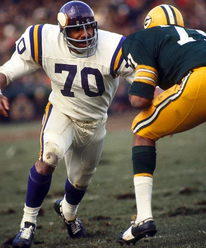 Defensive end Jim Marshall's 282 consecutive games, the most by a defensive player and second to only Brett Favre in NFL history.