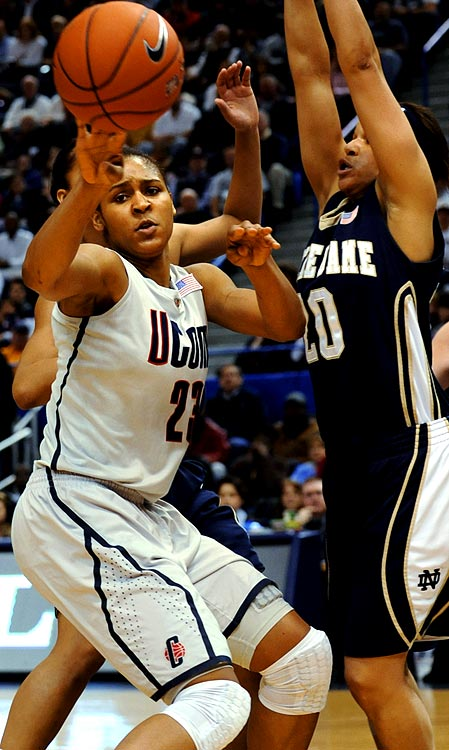 As of Dec. 10, Maya Moore (pictured) and the Connecticut Huskies were two games away from possibly eclipsing the UCLA men's 88-game winning streak that ended in 1974. The Huskies finished last year by cruising to their second consecutive national championship and raced to an 9-0 start this season.