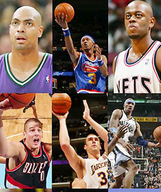 Most of the GMs in '00 got their picks right; this was just a bad group of players. Here was the top half of the first round: Kenyon Martin, Stromile Swift, Darius Miles, Marcus Fizer, Mike Miller, DerMarr Johnson, Chris Mihm, Jamal Crawford, Joel Przybilla, Keyon Dooling, Jerome Moiso, Etan Thomas, Courtney Alexander, Mateen Cleaves and Jason Collier.