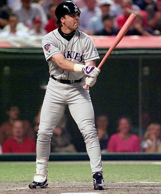 Rockies slugger Larry Walker became a switch-hitter rather than face Randy Johnson from the left side of the plate at Cleveland's Jacobs Field.