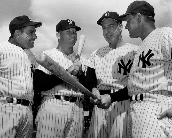 "A remnant from the Yankees' championship teams of the early '60s, Houk (far right in photo) lasted one season under new owner George Steinbrenner, going 80-82 (fourth place) before retiring. Including Houk, the Yankees had only 11 managers in the 55 years between 1918 and 1973. That would change in a hurry under The Boss. As Johnny Carson later noted, ""There are 11 million unemployed in the United States and most of them are Yankee managers."""