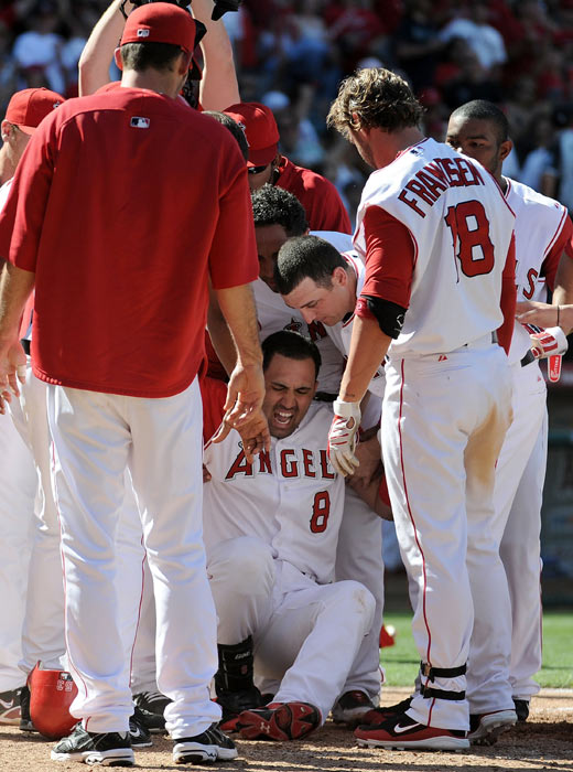 Morales went from elation to disappointment in a matter of seconds as he broke his leg celebrating a walkoff grand slam against Seattle. The injury caused him to miss the rest of the season.