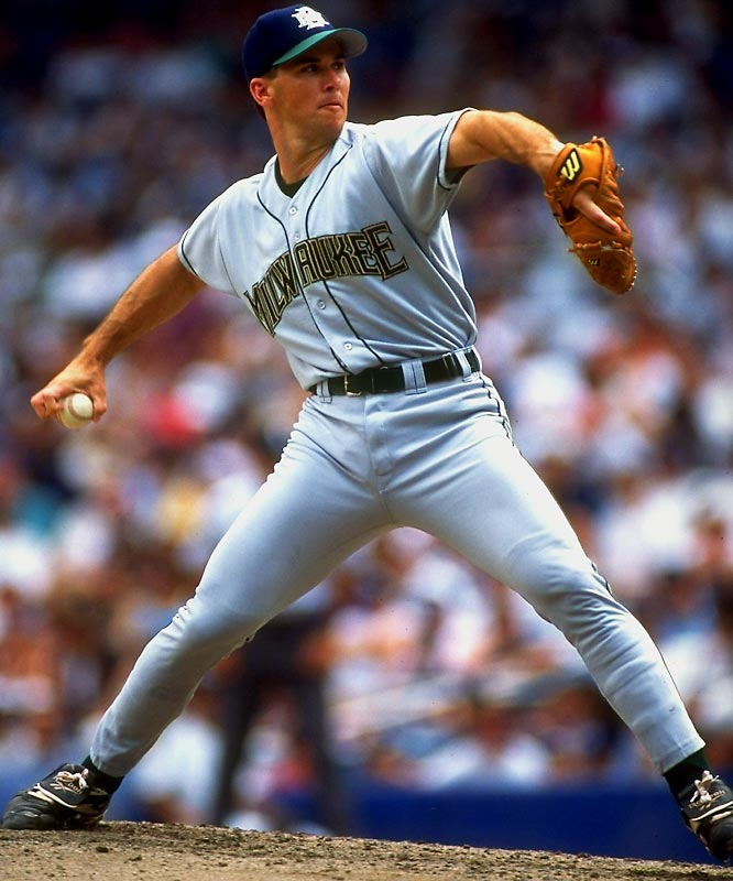 Milwaukee's knucklehead, er, knuckleballer dislocated his left shoulder while trying to rip a phonebook in half at a motivational seminar hosted by the team in 1994.